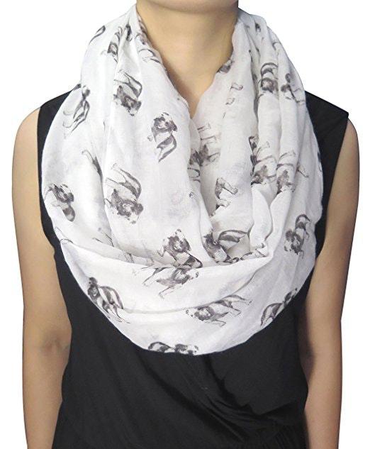 An all-weather bulldog scarf