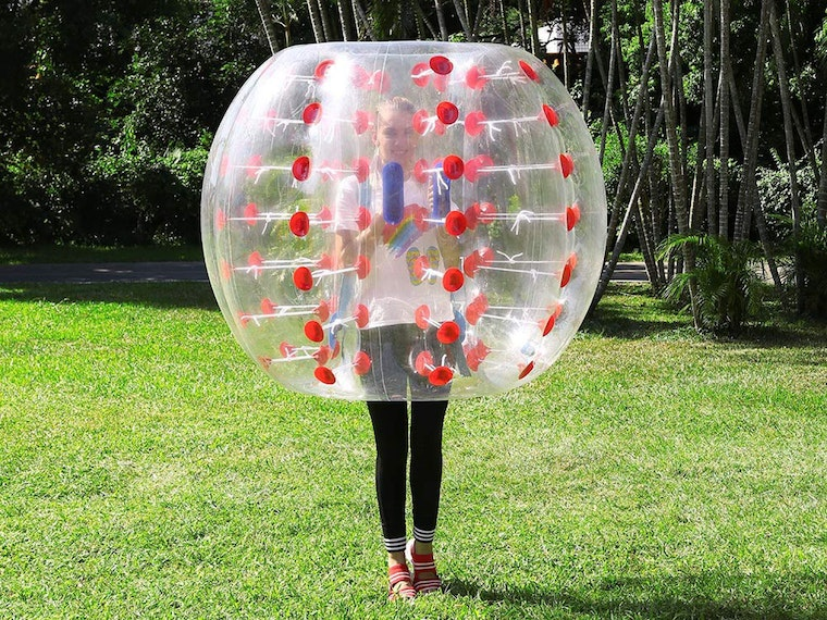 This thing that's like a human hamster ball