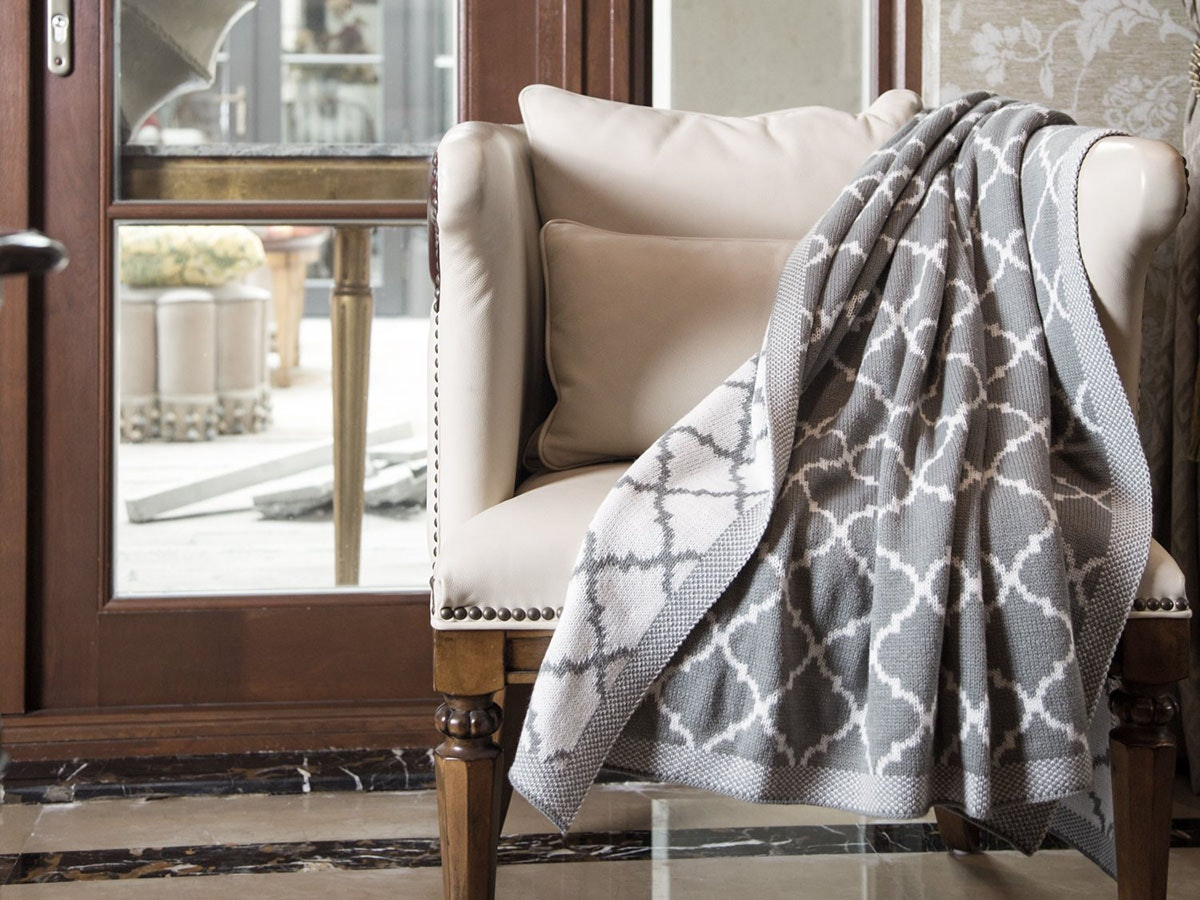 A simple, inexpensive throw blanket to keep you warm