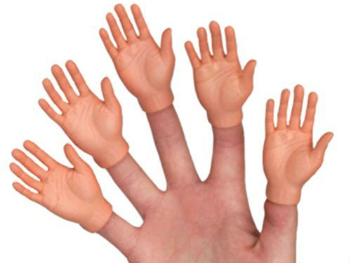 These tiny hands because who doesn't need 50 fingers?