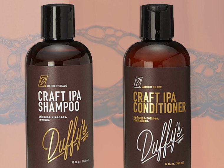 This beer-inspired shampoo and conditioner