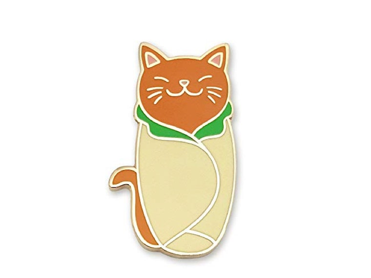 This pin that marries your love of cat and burritos🌯