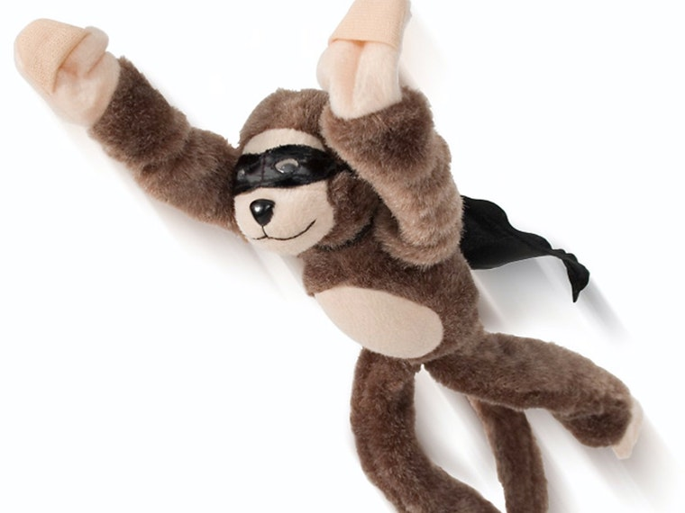 This flying monkey that wears a cape and a mask, as all good flying monkeys should