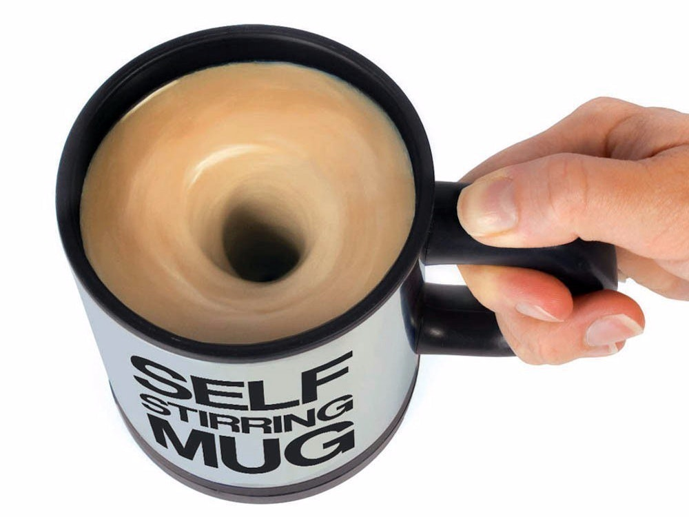 This self-stirring mug for those mornings when you can't even