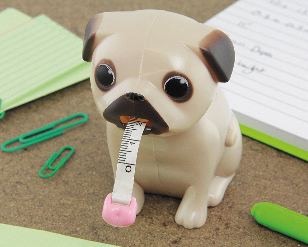 This pug tape measure that's cute AF🐶💖🐶