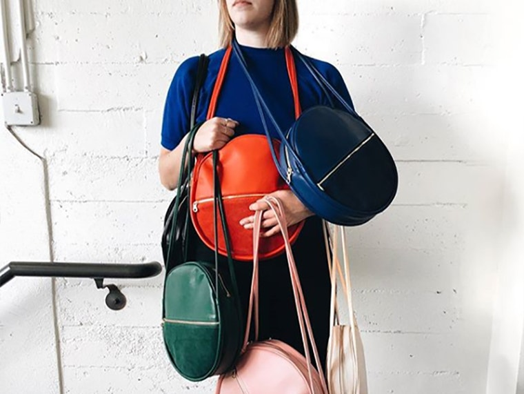 This deceptively roomy circle bag