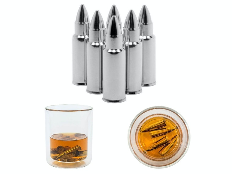 These bullet-shaped whiskey stones for gun lovers