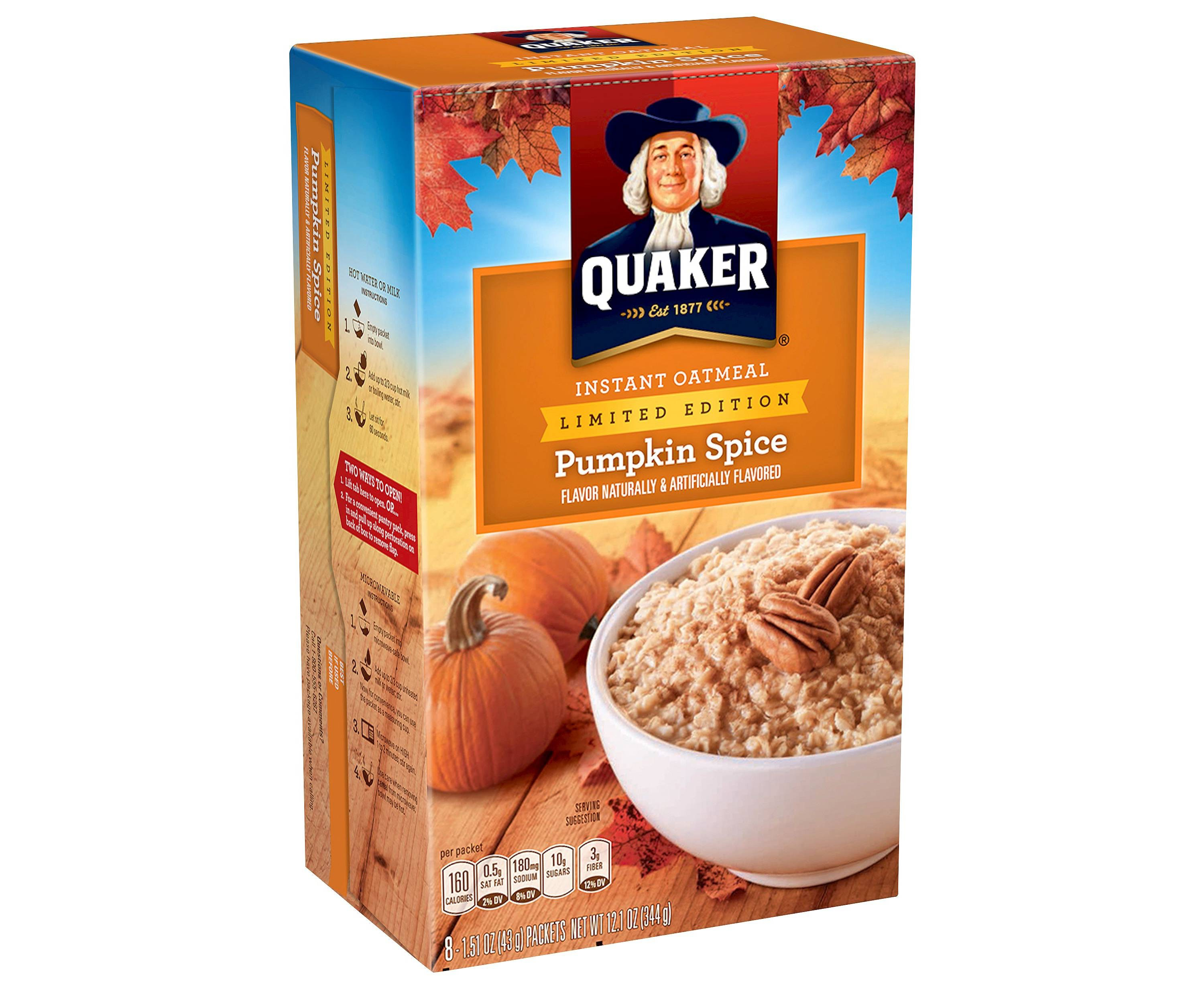 This pumpkin spice oatmeal that's ready to eat in 60 seconds