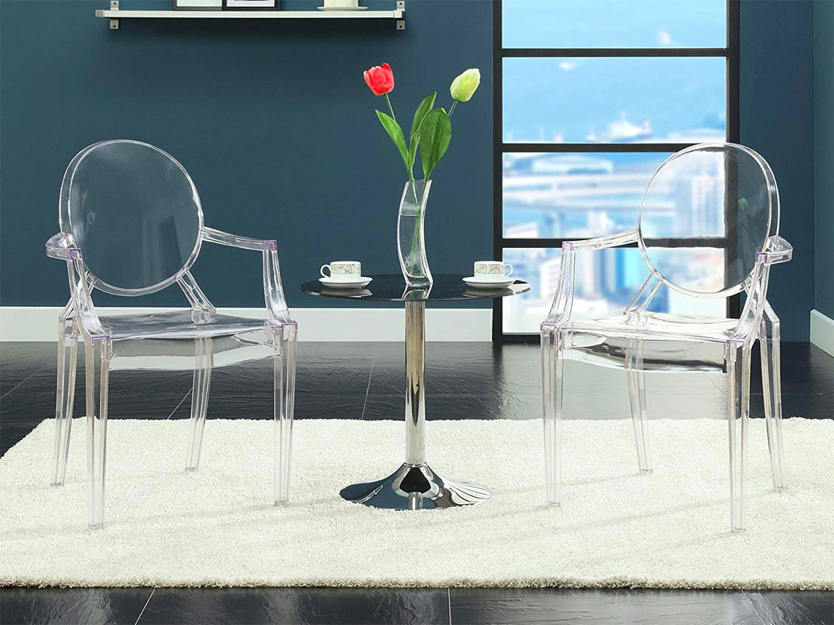 These clear acrylic chairs
