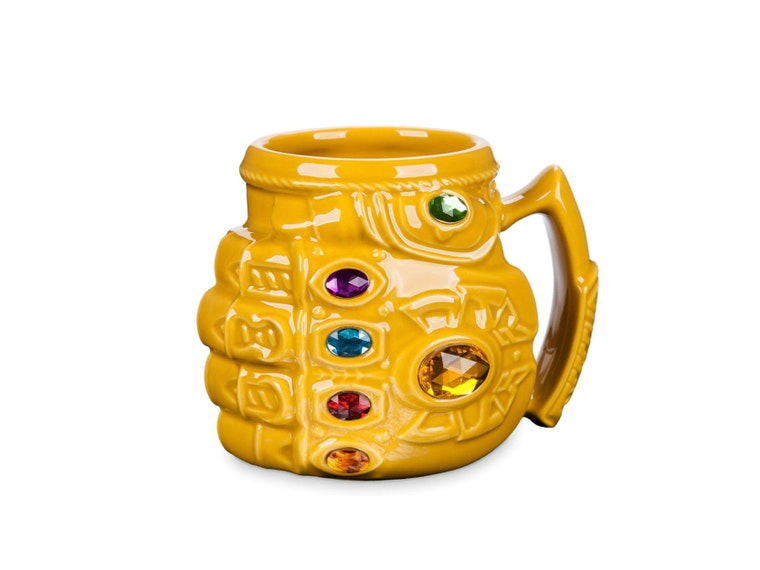 This snazzy gauntlet mug that holds infinite refills ☕