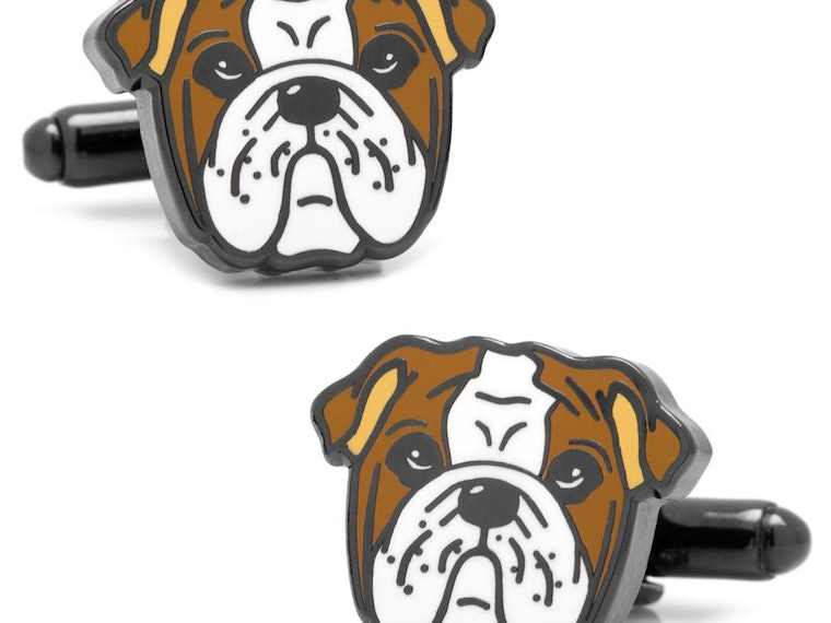 These bulldog cufflinks for the fanciest of occasions