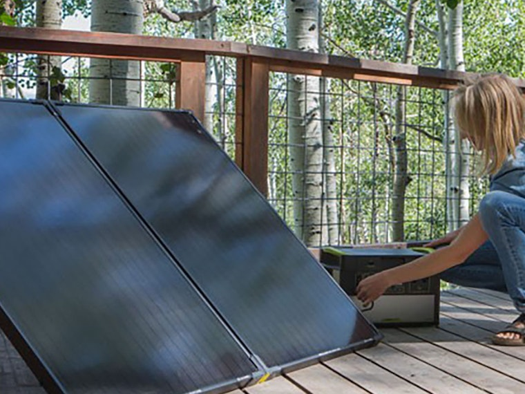 These folding, briefcase-sized solar panels