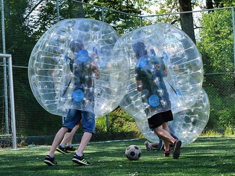 These crazy bumper balls that you know you've been dying to try