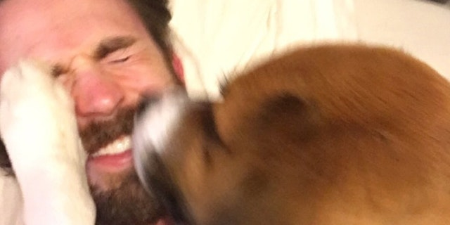 See the Heartwarming Moment Chris Evans Met His Rescue Dog