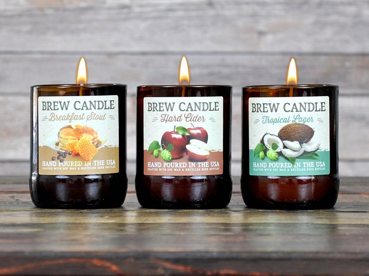 These amazing beer-scented candles