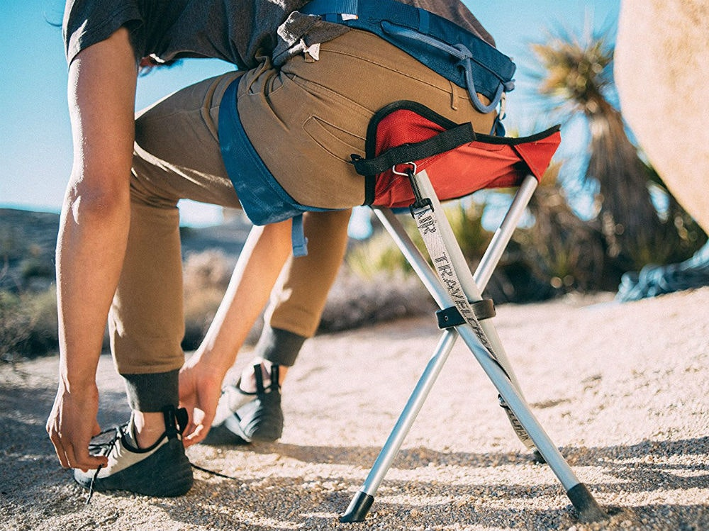 This ridiculously compact stool for whenever you need a break