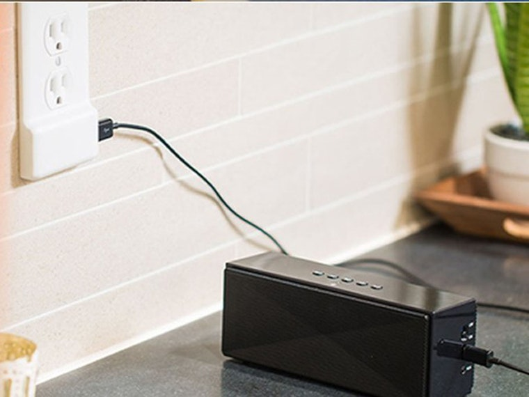 Add USB ports to any wall outlet without calling an electrician