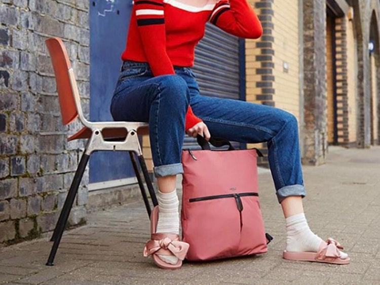 This unusual backpack-tote hybrid