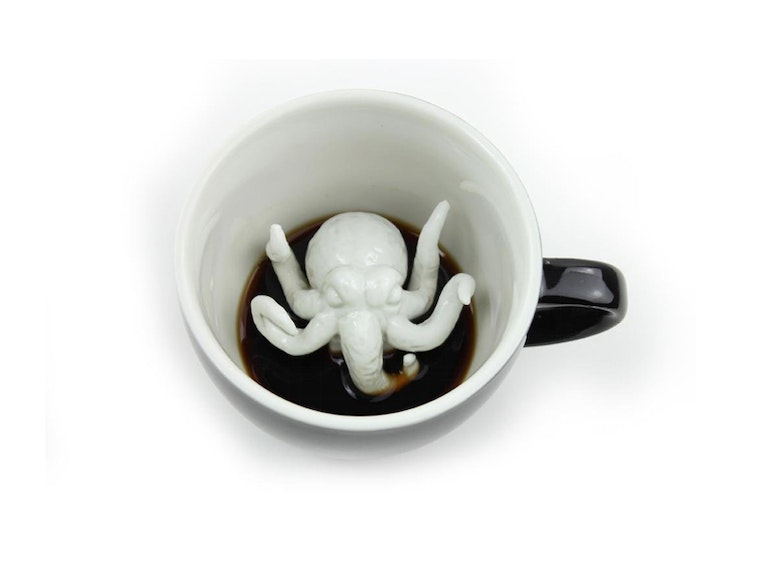 This coffee mug with a hidden tentacle surprise ☕