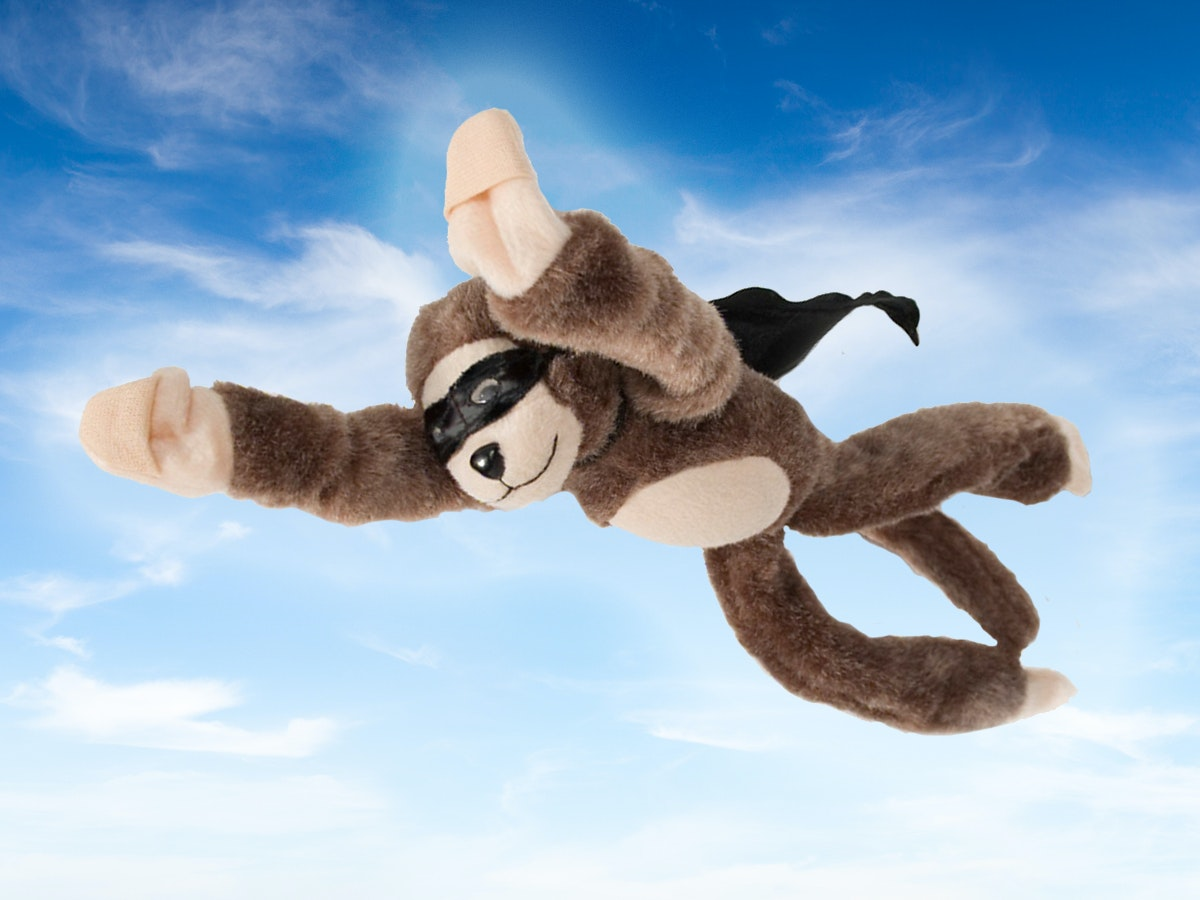 A flying monkey to fling at your friends