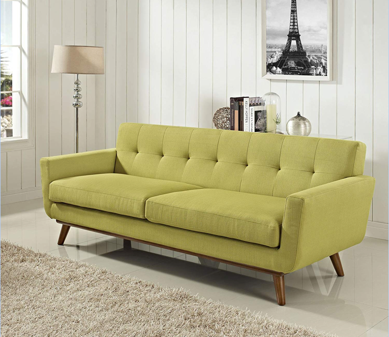 This sofa with an awesome retro vibe