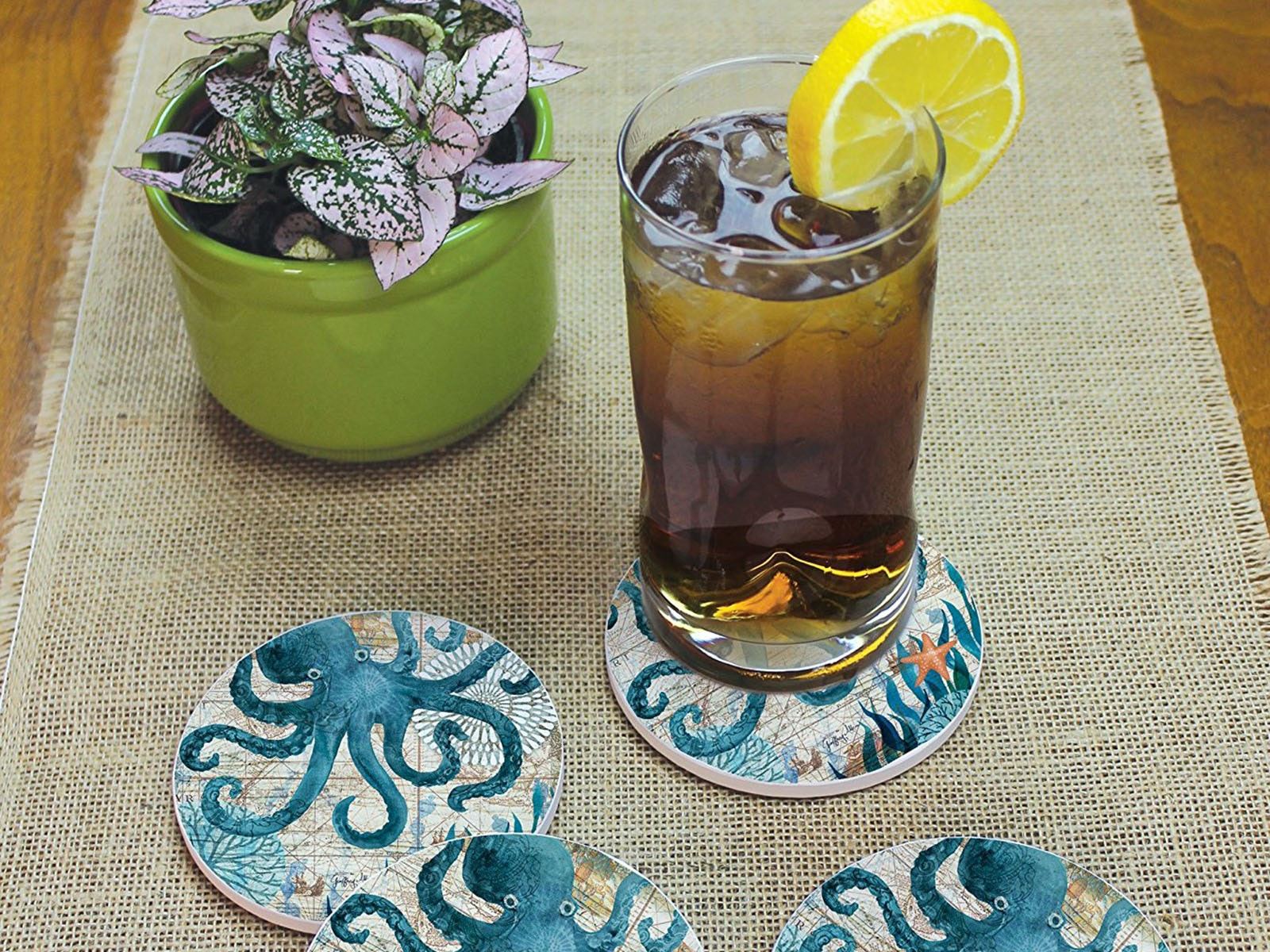 Cool coasters that your visiting friends will probably forget to use