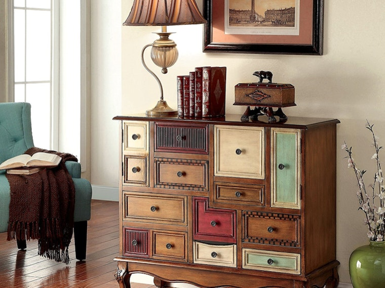 This eclectic storage chest