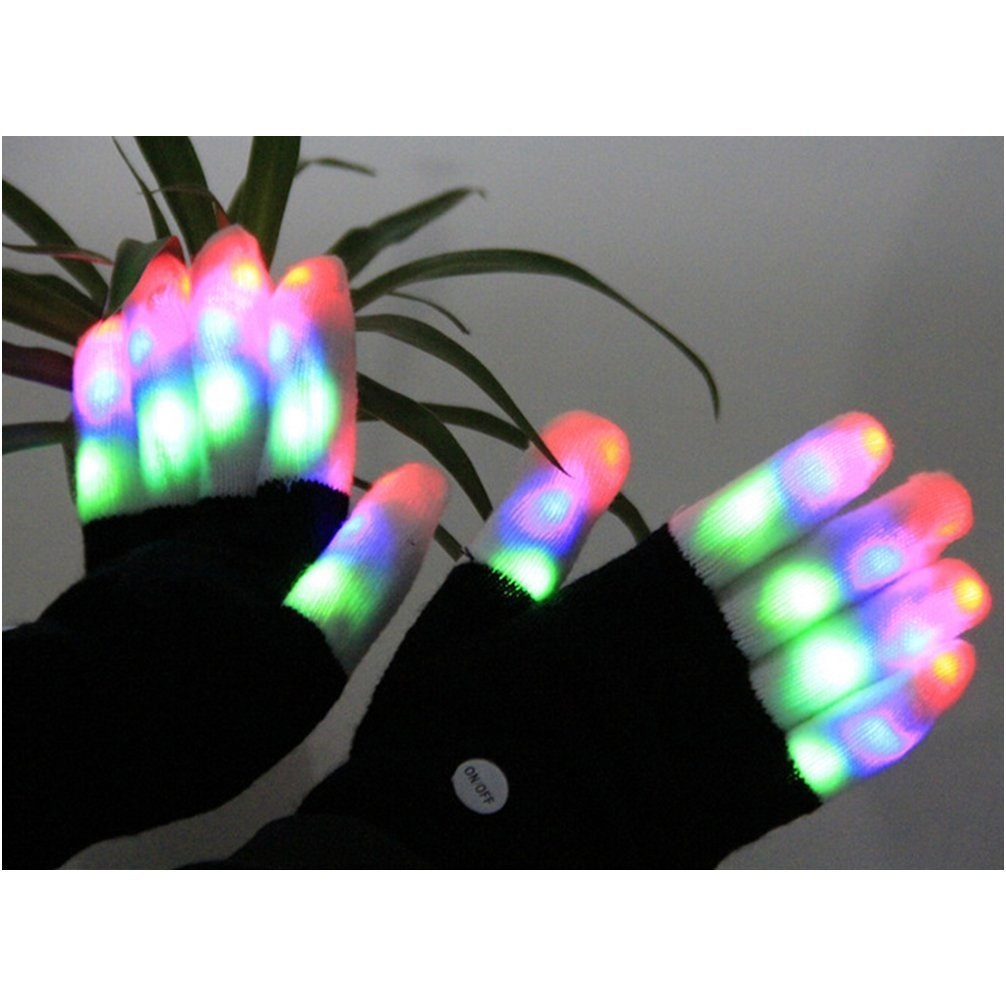 These crazy gloves that light up and blink in the dark💡