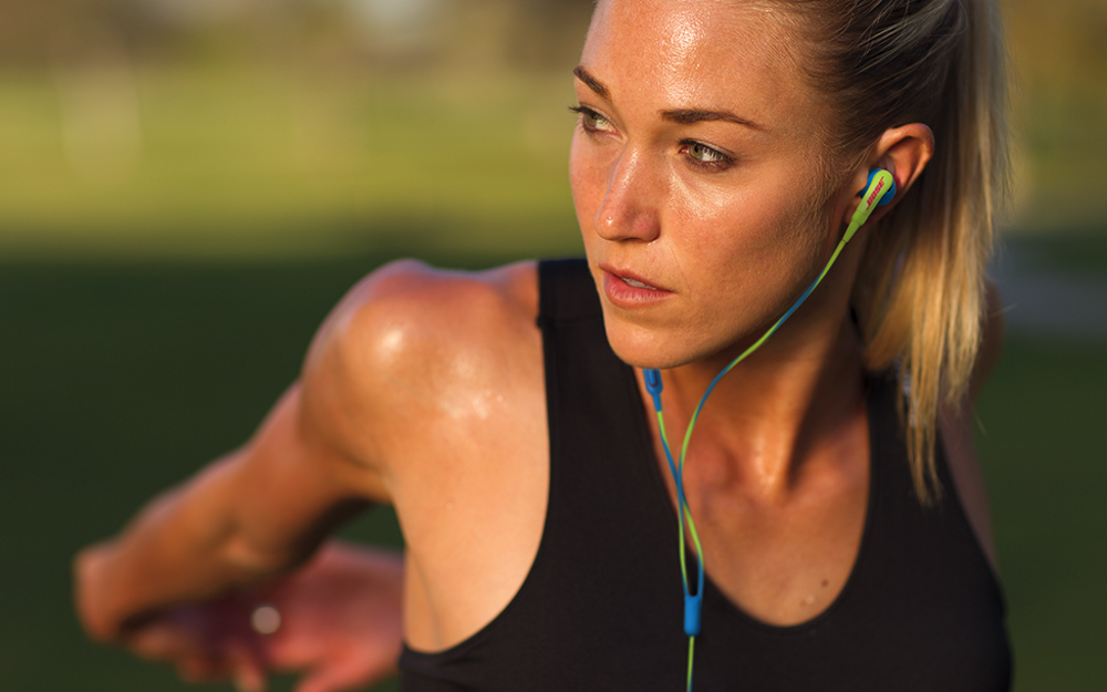 Premium in-ear headphones for runners