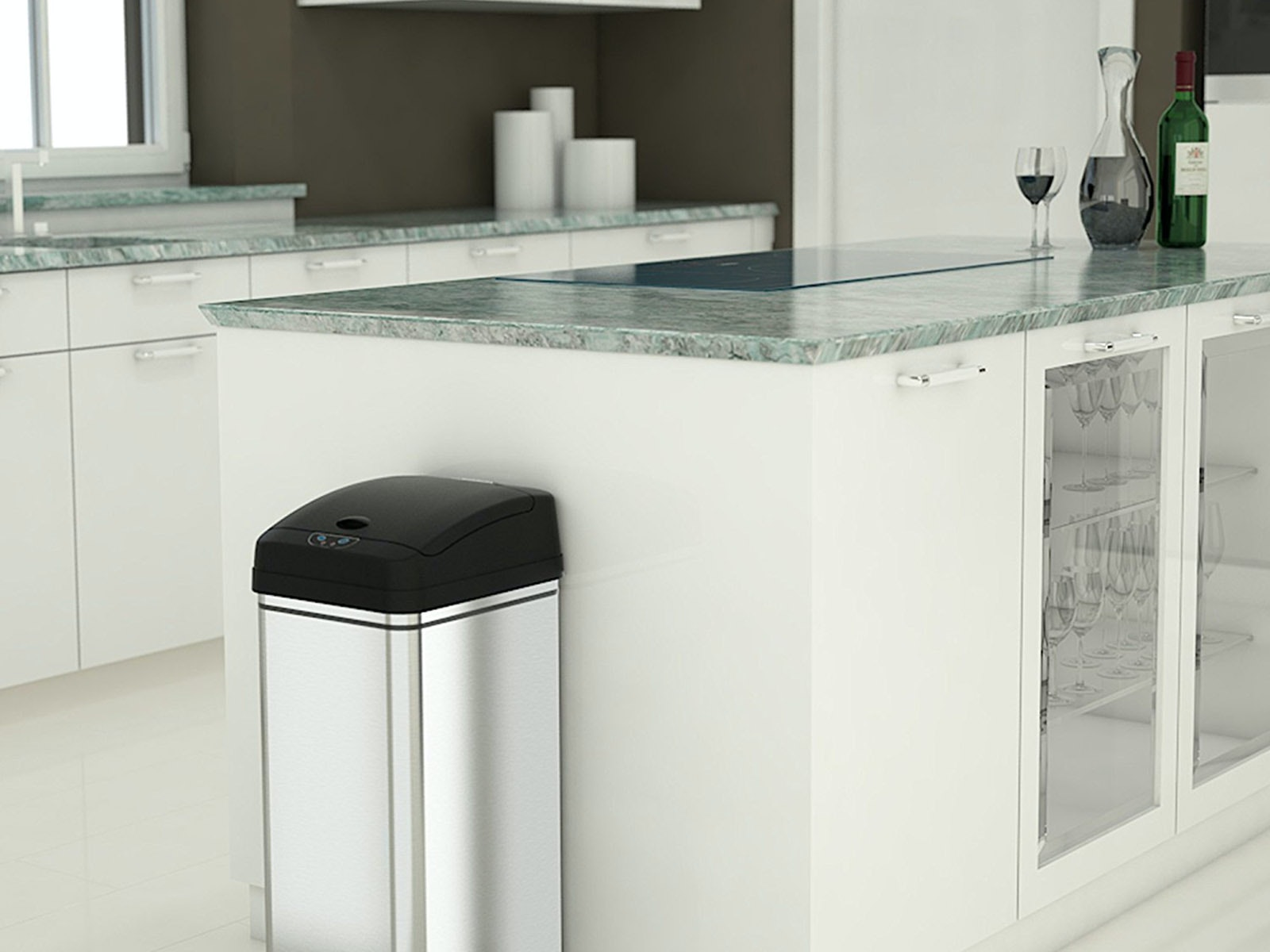Thisdeodorizing trash can that you never need to touch, ever