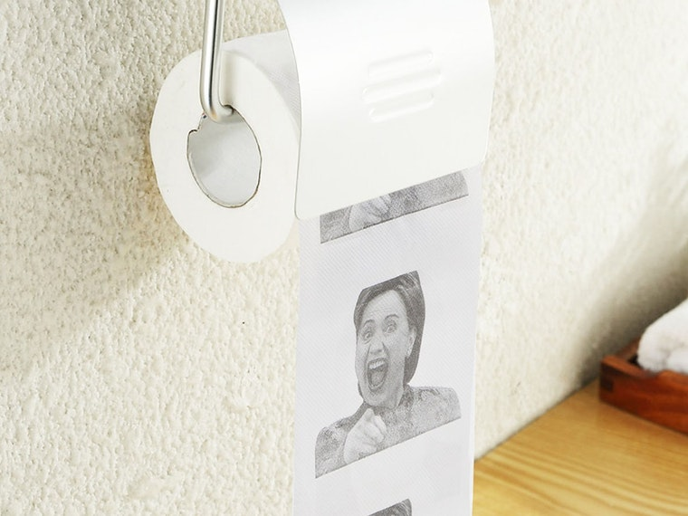 This tissue paper for some on-the-toilet laughs