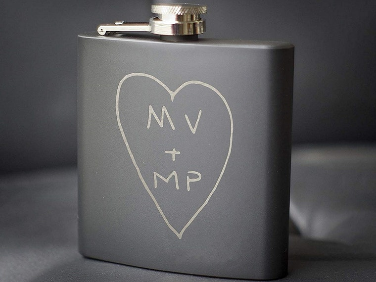 A personalized flask for your steady
