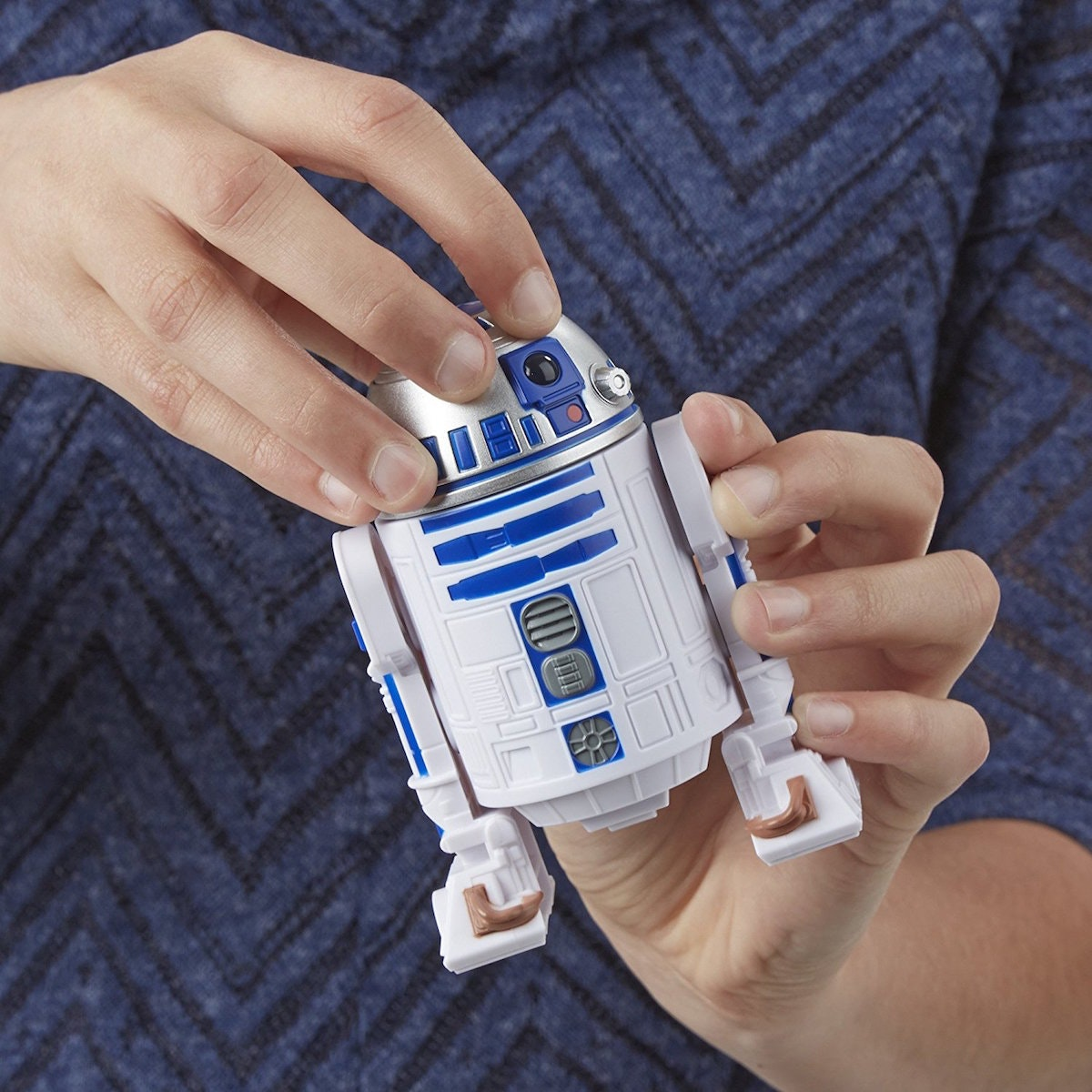 An R2-D2 that plays 'Bop It'