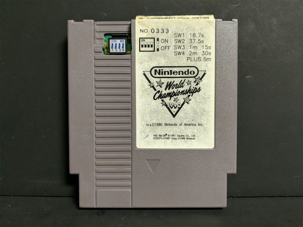This rare Nintendo World Championship 1990 competitioncartridge that sells for five figures
