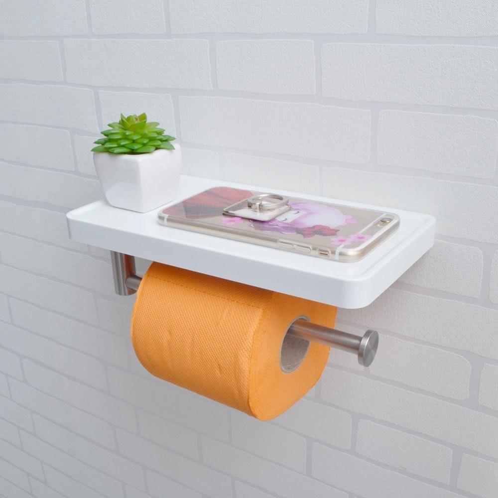 This super modern toilet paper shelf