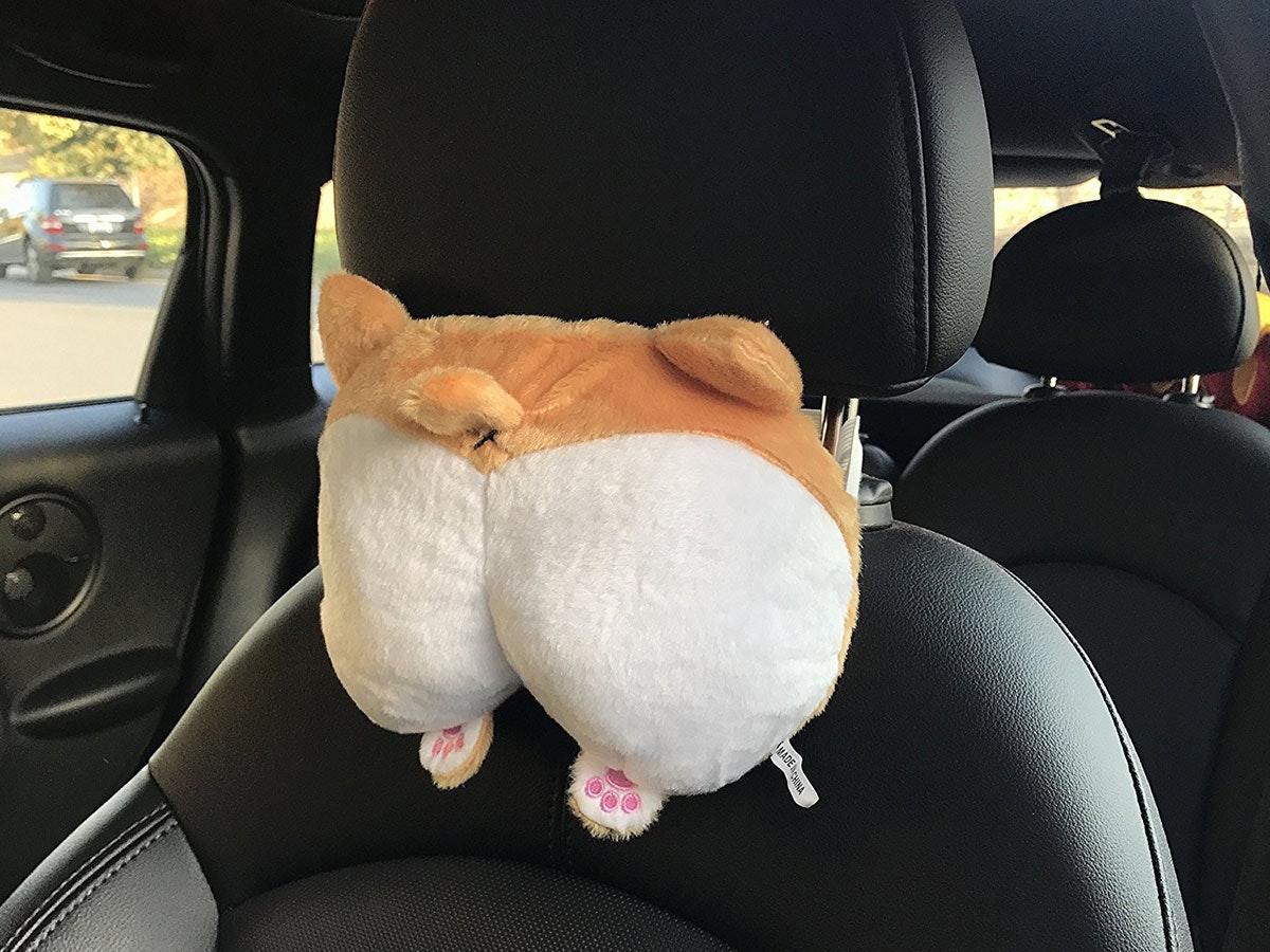 This corgi butt headrestthat'll class up your ride