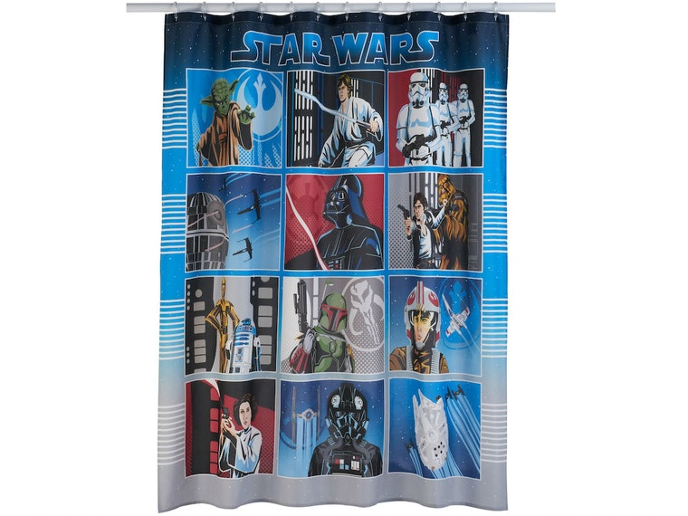 This shower curtain from a galaxy far, far away