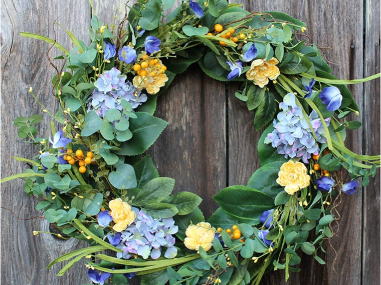 This beautiful spring wreath that'll last forever