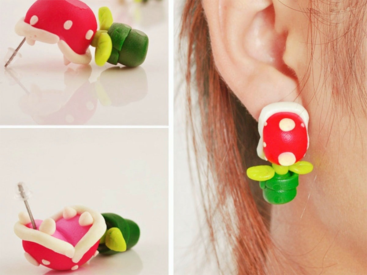 These Piranha Plant earrings to give yourself some Mushroom Kingdom style