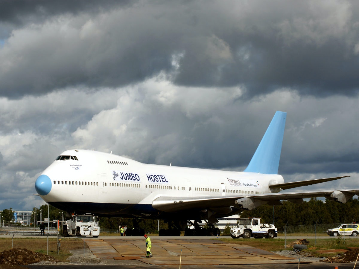 This hostel in Sweden that's just a giant jumbo jet