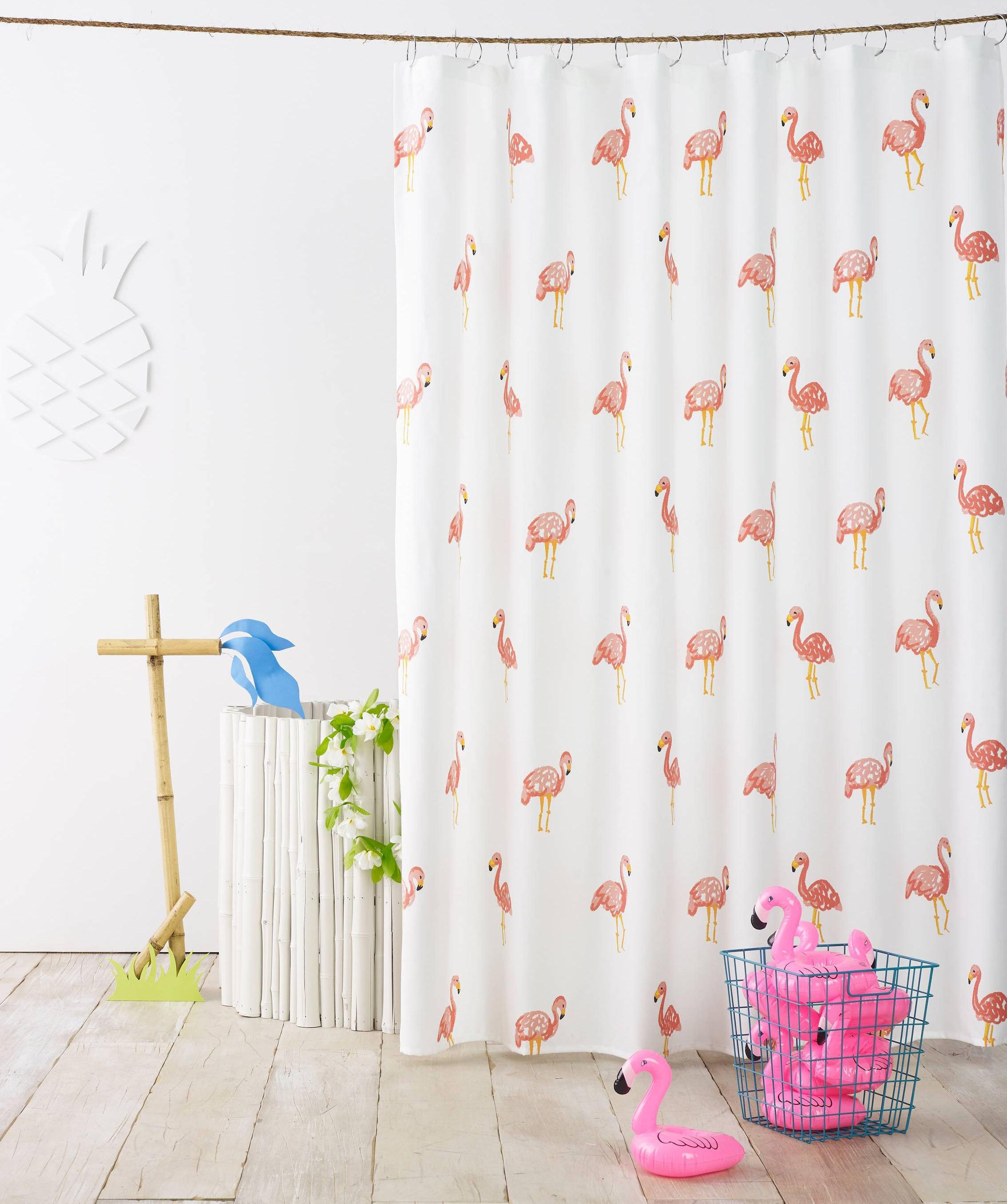 A shower curtain to keep your bathroom floor dry