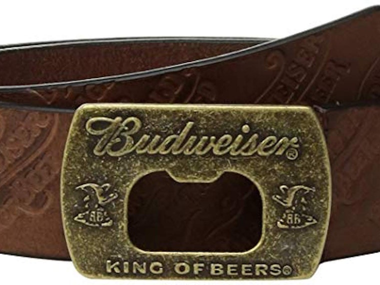 This Budweiser belt with a built-in bottle opener