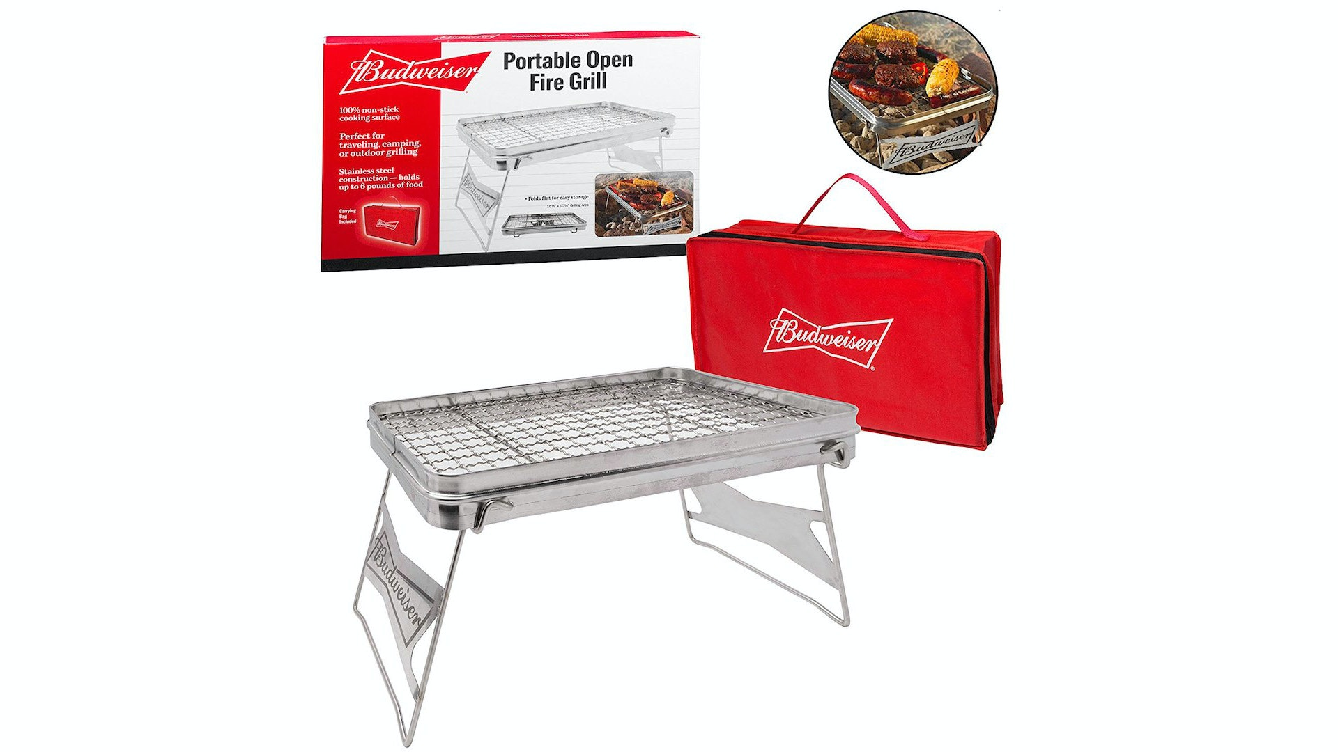 This Budweiser portable grill