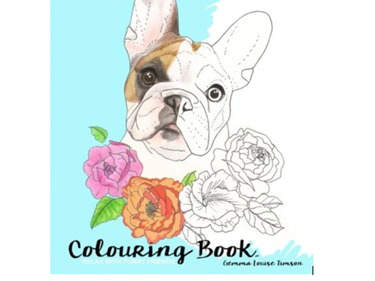 This coloring book filled with cute puppers
