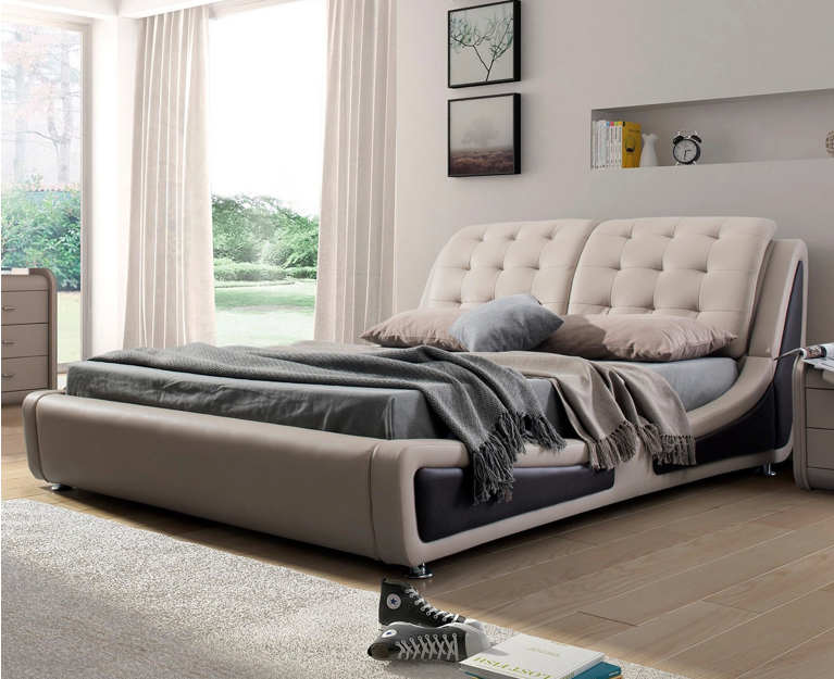 This contemporary platform bed