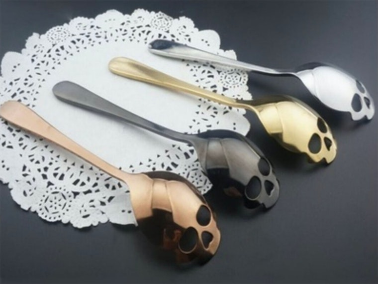 These skull spoons for the most badass high tea, ever