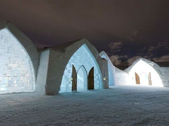 ThisQuebec hotel built entirely of ice