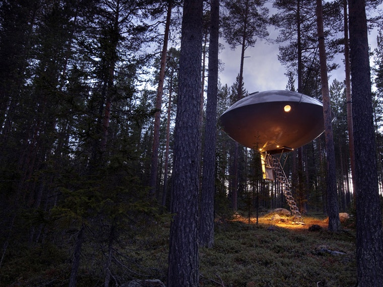 This strange UFO in the woods of Sweden