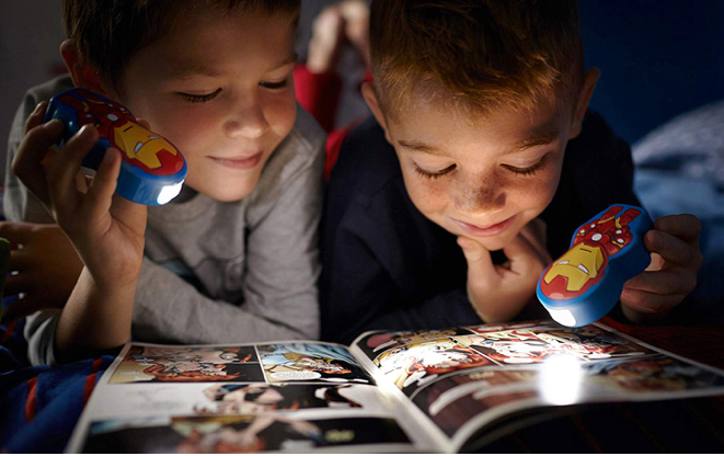 These pocket flashlights for late-night comic reading sessions