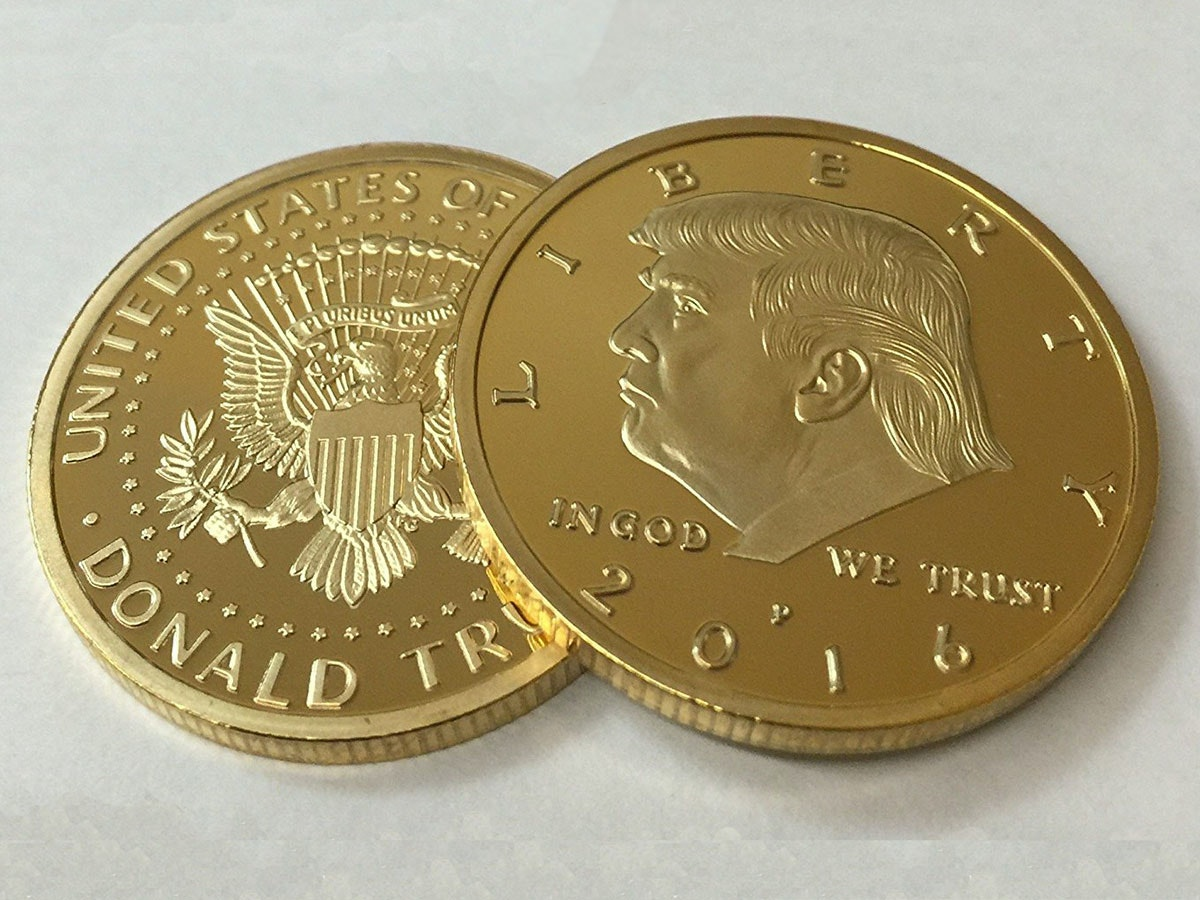 This commemorative coin in the president's favorite color